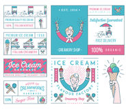 Ice Cream 4 colored Stock Photography