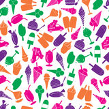 Ice cream colorful pattern eps10 Stock Images