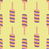 Ice cream colorful seamless pattern. Stock Photography