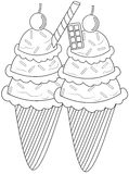 Ice cream coloring page Stock Image