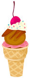 Ice cream cone Royalty Free Stock Photography