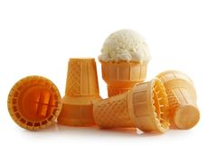 Ice cream cone stock photography