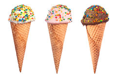 Ice Cream Cone Assortment Stock Photography