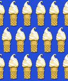 Ice cream cone background Stock Photography