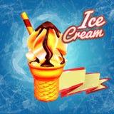 Ice cream cone. Banner for ice cream premium quality Stock Photos