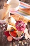 Ice cream in cone Stock Photos