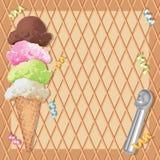 Ice cream cone birthday party vector illustration
