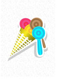 Ice cream cone colorful Stock Photo
