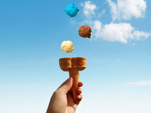 Ice Cream Cone Concept Picture Stock Photo