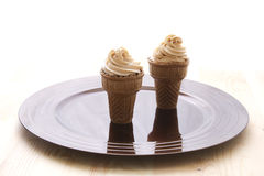 Ice cream cone cupcake Stock Photography