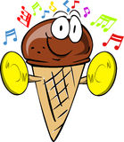 Ice cream cone with cymbals Stock Photography