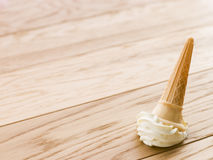Ice Cream Cone Dropped On The Floor.  Royalty Free Stock Images