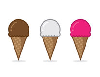 Ice Cream Cone Flavors Royalty Free Stock Images