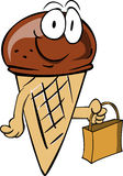 Ice cream cone holding an empty bag Stock Image