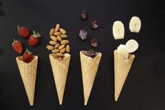 Ice Cream Cone, Ice Cream, Dessert, Dairy Product stock photography
