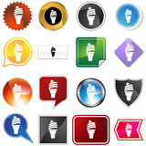 Ice Cream Cone Icon Set Royalty Free Stock Photo