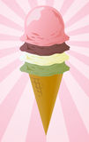 Ice cream cone illustration Stock Photography