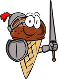 Ice cream cone knight Royalty Free Stock Photography
