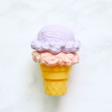 Ice cream cone ornament on white background. Top view Royalty Free Stock Photography