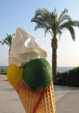 Ice cream cone and palm tree Stock Image