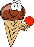 Ice cream cone playing ping pong Stock Image