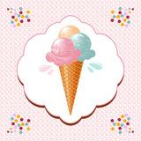 Ice cream cone Royalty Free Stock Images
