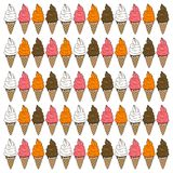 Ice cream cone set Royalty Free Stock Image