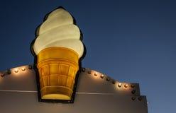 Ice cream cone sign Stock Photos