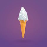 Ice Cream and Cone. Vector illustration of ice cream Royalty Free Stock Image