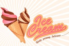 Ice Cream Cone. Vector illustration of colorful ice cream cone Stock Images