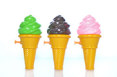 Ice cream cone water gun Royalty Free Stock Photography