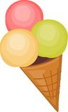 Ice cream in cone Royalty Free Stock Photo