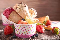 Ice cream in cone Royalty Free Stock Photo