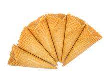 Ice cream cones. On white background royalty free stock images