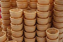 Ice cream cones. Background pattern Royalty Free Stock Photos