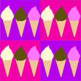 Ice Cream Cones Stock Photography