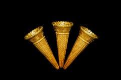 3 Ice cream cones Royalty Free Stock Photos