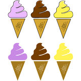 Ice cream cones Royalty Free Stock Image