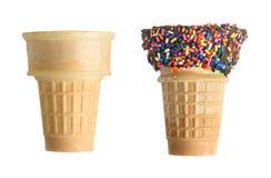 Ice cream cones stock image