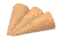 Ice Cream Cones Isolated Stock Photography