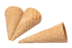 Ice Cream Cones Isolated Royalty Free Stock Photo