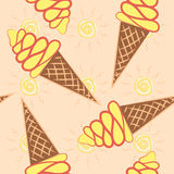 Ice - cream cones seamless background pattern Royalty Free Stock Photo