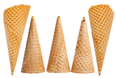 Ice cream cones set Stock Images