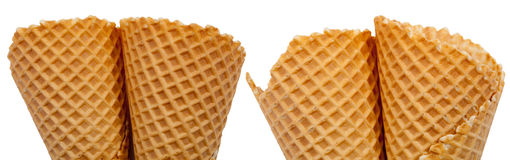 Ice cream cones set Stock Photo