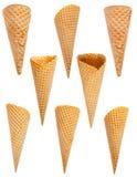 Ice cream cones set Stock Photo