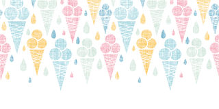 Ice cream cones textile colorful horizontal Stock Photos