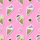 Ice cream cones Stock Images