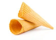 Ice Cream Cones. On a white background Royalty Free Stock Photo
