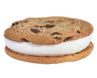 Ice cream cookie with clip-path Stock Photography