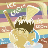 Ice cream with cookie Stock Images